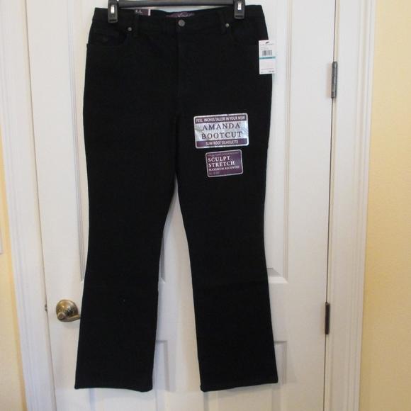 Gloria Vanderbilt Denim - NWT - G. Vanderbilt black jeans - sz 16P - $40.00